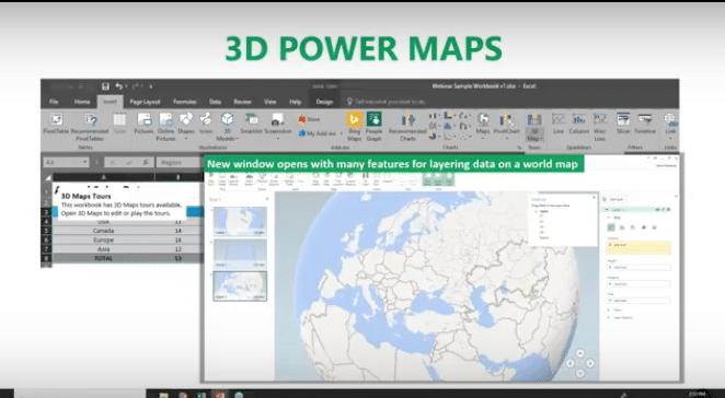 3D Power Maps